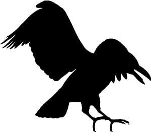 Piernas abiertas crow , pegatina aves - 50cm Altura - 50cm Ancho - Negro Vinilo
