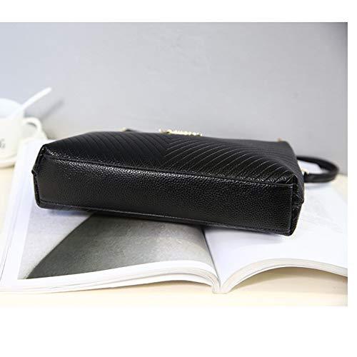 Noir Noir PU Bandoulière réglable Mode relief Sacs en bandoulière Femmes à qw6t86