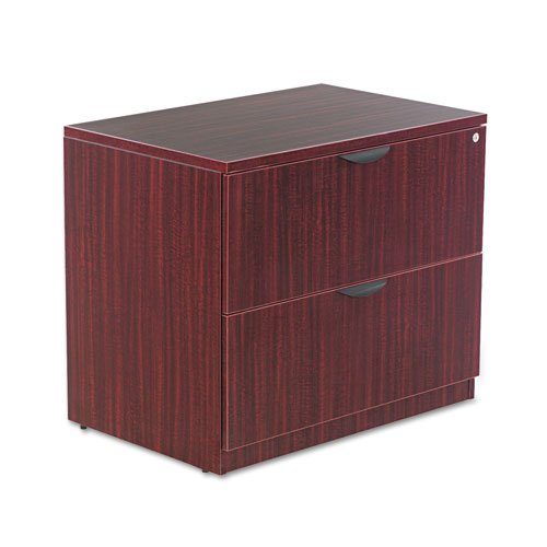 Alera Valencia Series Two-Drawer Lateral File, 34w x 22 3/4d x 29 1/2h, Mahogany