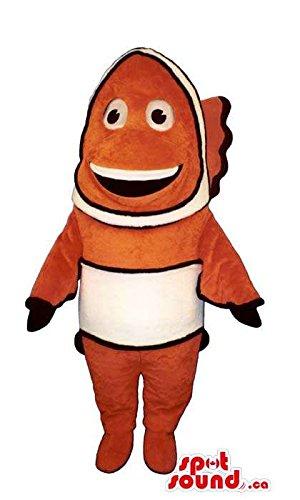 Finding Nemo Movie Character Orange Clownfish Dory Fish Mascot SpotSound US