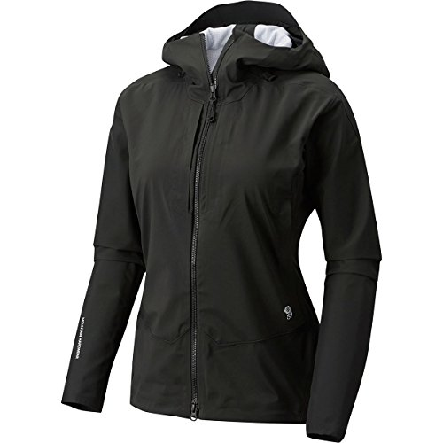 Mountain Hardwear Women's Touren Hooded Softshell Jacket, Stealth Grey, M