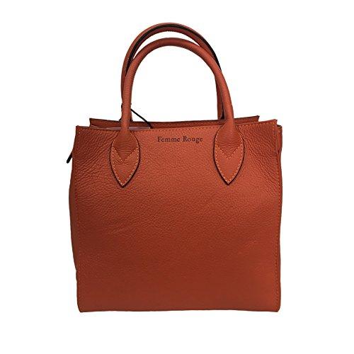 Arancio Made In Italy Pelle Femme Almala Borsa 100 Capri Mod By Donna Bag Rouge nZqPxRq7X