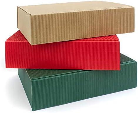 Cajas para 3 botellas de champán/vino, 360 x 260 x 90 mm, sin depósito, 9 unidades, 3 colores: Amazon.es: Oficina y papelería
