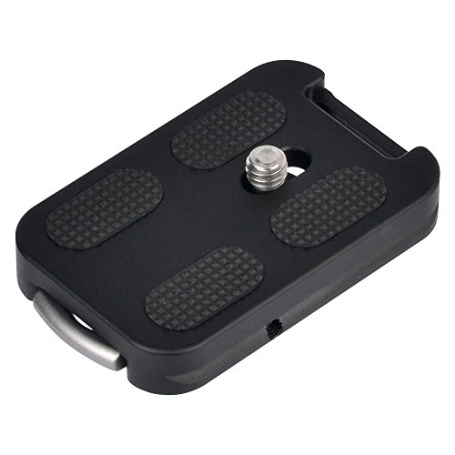 Hifine QR-60 Camera Quick Release Plate With Strap Buckle And Attachment Loop 1/4 Inch Mounting Screw For Video Camera DSLR