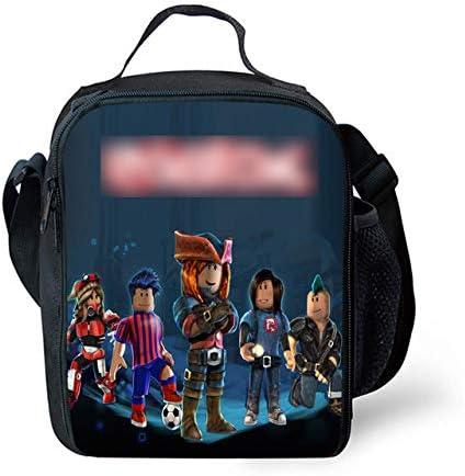 FUIBENG T-rex School Kid Thermal Lunch Bag Portable Insulated Cooler Box Mini Picnci Handbag