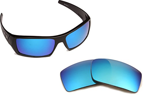 Best SEEK OPTICS Replacement Lenses Oakley GASCAN - Polarized Blue - Mirror Lens Blue Oakley