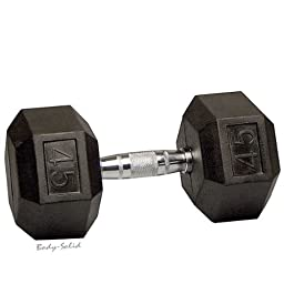 45 lb. Rubber Coated Hex Dumbbell