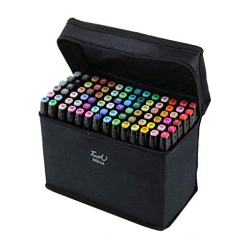 80 Colors Touch-5 Alcohol Graphic Pen Manga Graphic W/bag Art Twin Marker Pen W060015