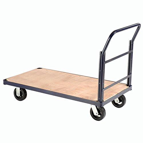 (Steel Bound Platform Truck w/Wood Deck, 60 x 30, 6