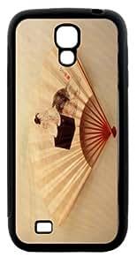Rikki KnightTM Katsushika Hokusai Art Young Lady Design Samsung\xae Galaxy S4 Case Cover (Black Hard Rubber TPU with Bumper Protection) for Samsung Galaxy S4