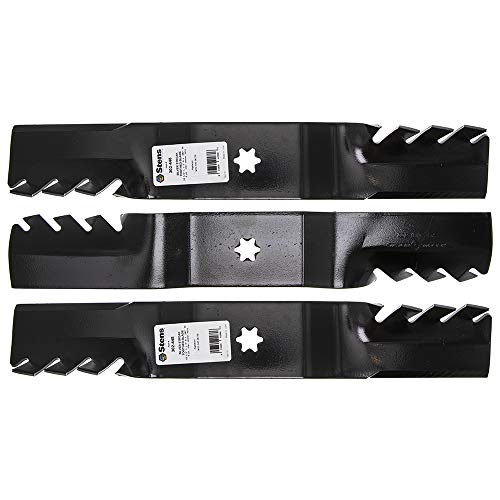 Silver Streak Toothed Blade - Stens Pack of Three 302-448 Silver Streak Toothed Blade