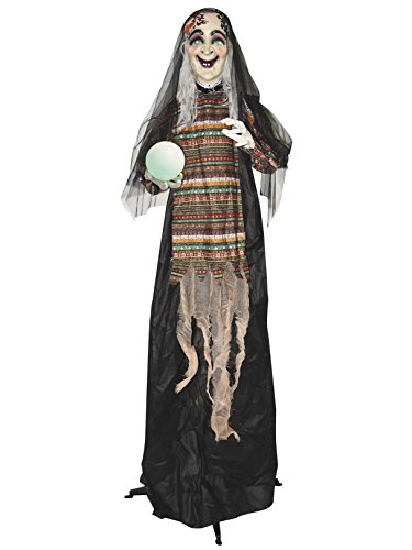 5' Animated Standing Fortune Telling Witch with Lights & Sound - Standard ()