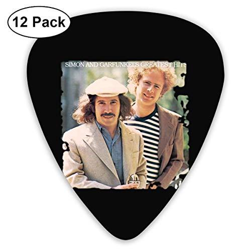 ElijahO Simon & Garfunkel Greatest Hits Celluloid Guitar Picks Plectrums (12 Pack) for Electric Guitar, Acoustic Guitar, Mandolin, and Guitar Bass ()