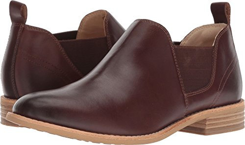 CLARKS Women's Edenvale Page Fashion Boot, Dark tan Leather, 080 M US (Leather Gore Side)