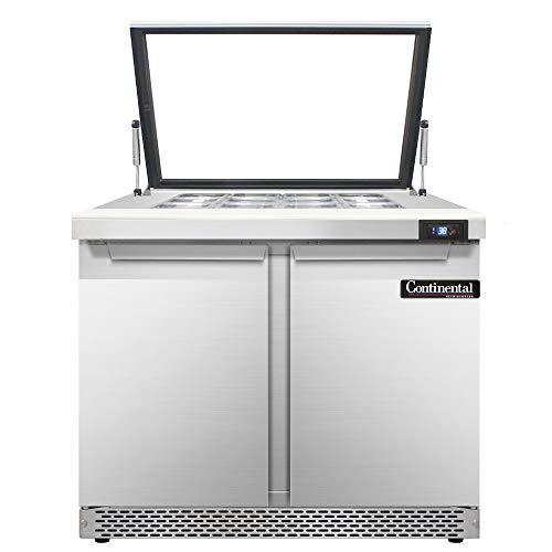 Continental Refrigerator SW36-12M-HGL-FB Mighty Top Sandwich Unit, 36