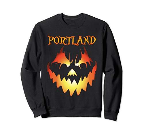 Portland, Oregon Jack O' Lantern Halloween Sweatshirt