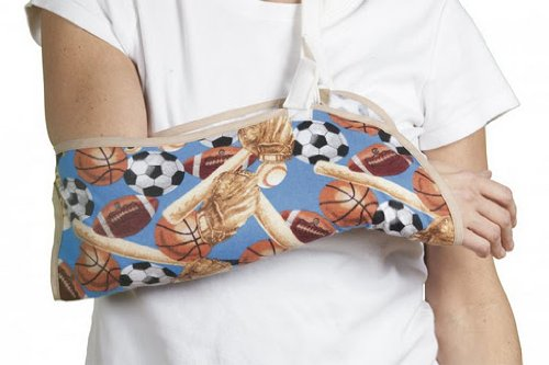 FlexaMed Children's Arm Sling with Sports Theme