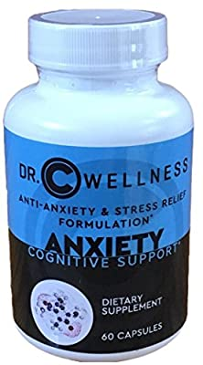 Anxiety relief natural supplements, Sleep Aid and and cognitive support formulation with L-Theanine, St.John's Wart, Rhodiola Extract, Ashwagandha, Chamomile, Passion Flower, 60 Capsules