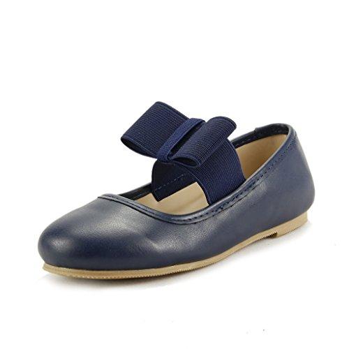 The Doll Maker Girl's Ballet Flat - FBA1531115B-8 Navy Blue ()