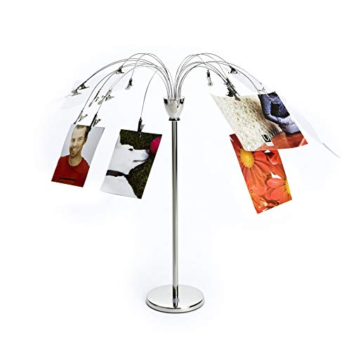 - Umbra Fotofalls - Desktop Photo Holder and Picture Stand with Plated Wire and Metal Clips, Nickel, Silver