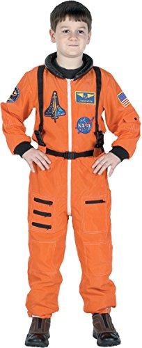 Kid's Orange Junior Astronaut Costume (Junior Costumes)