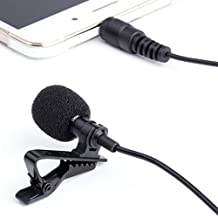 Lavalier Microphone - Peyou Mini Hands Free Lavalier Clip-On Omnidirectional Microphone for iPhone SE 6S/6S Plus, Samsung Galaxy S7/ S7 Edge, iPad Pro, Android and Windows Smartphones, Notebook, Youtube, Interviews With Good Sound Quality, 3.5mm Mic Cable
