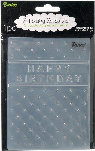 EB12 Happy Birthday Embossing Folder 4.25