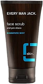 product image for Every Man Jack Face Scrub and Pre-Shave, Signature Mint 5 oz (Pack of 2)