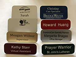 Engraved Name Tags Custom