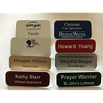 graphic about Future Missionary Tag Printable named : Personalized Engraved Status Tag Badges - Custom made