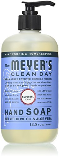 MRS MEYERS CLEAN DAY Hand Soap, Liquid Bluebell, 12.5 Ounce (Pack of 6)