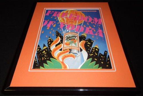 1999-stolichnaya-orange-vodka-framed-11x14-original-advertisement-stoli