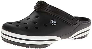 crocs Unisex Crocband-X Clog Black Rubber Clogs and Mules - M5/W7