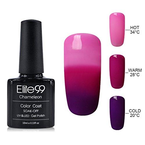 Elite99 Soak Off Gel Nail Polish UV LED Three Color Thermal