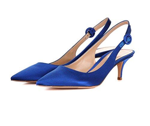 EDEFS - Zapatos con correa de tobillo Mujer Blausatin
