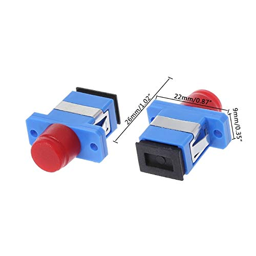Gimax 10 Pcs FC-SC Fiber Optic Adapter Female Cable Connector Coupler Flange Converter from GIMAX