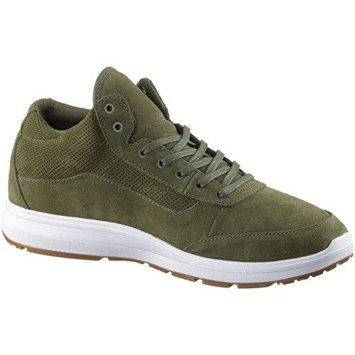 Vans Style 201 Mens Green Suede Lace Up Sneakers Schoenen