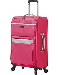 Mia Toro Bernina Softside 24 Inch Spinner Luggage, Fuchsia