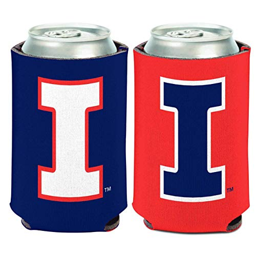 NCAA University Illinois Fighting Illini 1 Pack 12 oz. 2-Sided Can Cooler