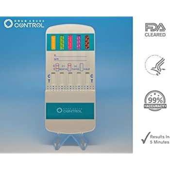 10 Panel Dip Drug Testing Kit, Test for 10 Different Drugs  (1)