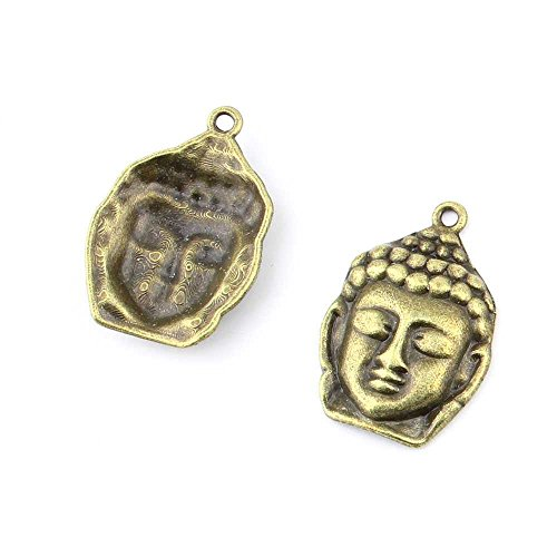 15 pieces Anti-Brass Fashion Jewelry Making Charms 3597 Buddha Wholesale Supplies Pendant Craft DIY Vintage Alloys Necklace Bulk Supply Findings Loose (Buddha Jewellery)