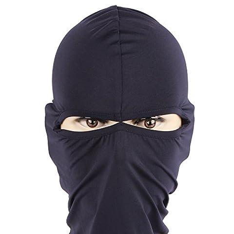 Rioriva Neck Protecting Face Mask For Motorcycle Balaclavas CS Hat Winter Headgear Skiing (Twohole-navy),One
