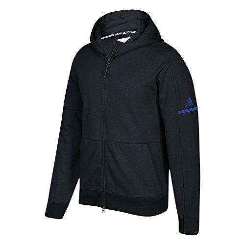 Adidas Jeu Construit Équipe Id Complet Zip Hoodie Noir-collégial Royal