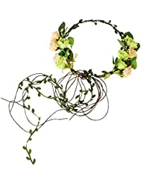 02e25823d4e Adjustable Bridal Flower Garland Headband Flower Crown Hair Wreath Halo F-83