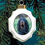 Christmas Ornament: Gordon Setter