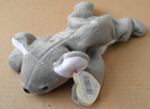 TY Beanie Babies Mel the Koala Bear Stuffed Animal Plush Toy - 8 inches long - Gray