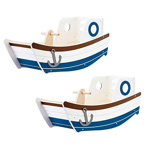 - MRT SUPPLY High Seas Early Explorer Wooden Rocker Rocking Toddler Toy Boat (2 Pack) with Ebook