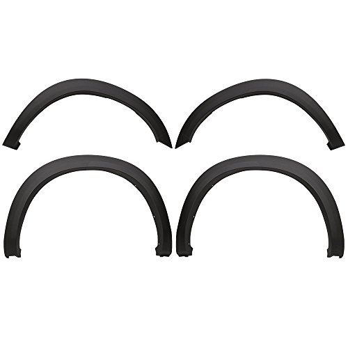 Fender Flares Fits 2010-2018 Dodge Ram 2500 3500 | OE Style OEM Matte Black Finish PP Injection Front Wheel Cover Protector Vent Trim by IKON MOTORSPORTS |  2011 2012 2013 2014 2015 2016 2017
