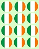 12 irish Flag rice paper fairy / cup cake 40mm toppers pre cut decoration ireland