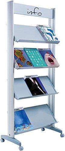 Prospektständer Mobile Alu Für 12 Prospekte 1678x72x385cm Amazon